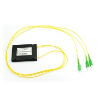 Splitter PLC 1x2 ABS box SM 2mm 1m SC/APC