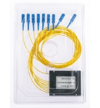 Splitter PLC 1x8 ABS box SM 2mm 1m SC/UPC