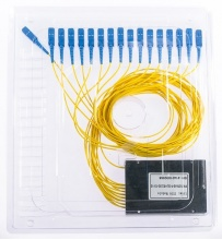 Splitter PLC 1x16 ABS box SM 2mm 1m SC/UPC
