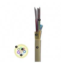 Cable de fibra óptica Riser 16 Fibras G657 MARFIL 1000N